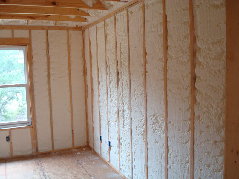 foam and fiberglass insulation